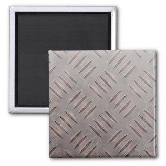 Textura de acero de la placa del diamante imán cuadrado
