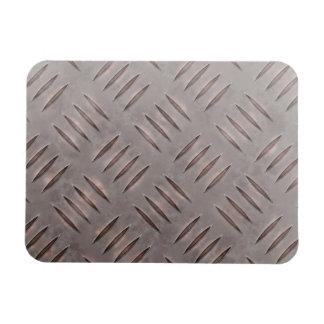 Textura de acero de la placa del diamante imanes rectangulares