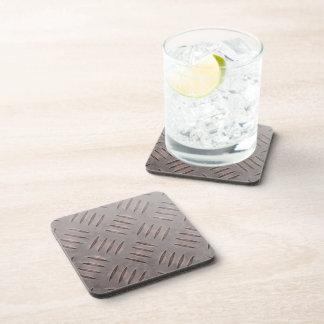 Textura de acero de la placa del diamante posavasos de bebidas
