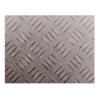 Textura de acero de la placa del diamante postales