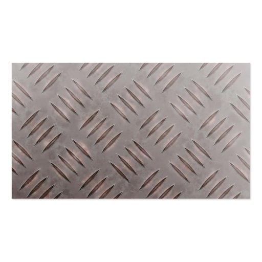 Textura de acero de la placa del diamante tarjetas de visita
