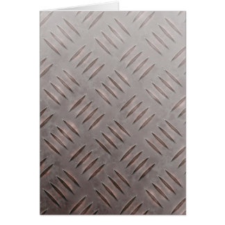 Textura de acero de la placa del diamante tarjeta pequeña