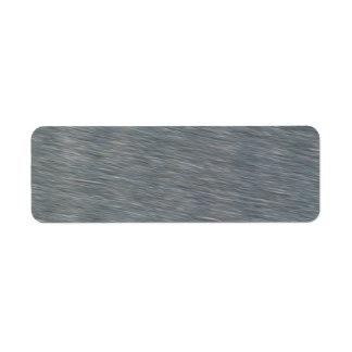 Textura de acero del fondo del satén etiqueta de remitente