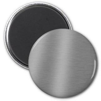 Textura de aluminio cepillada imán redondo 5 cm