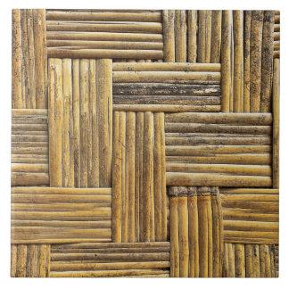 Textura de bambú de la armadura azulejo cuadrado grande