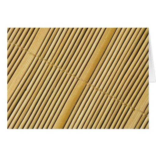 Textura de bambú de la estera tarjeta de felicitación