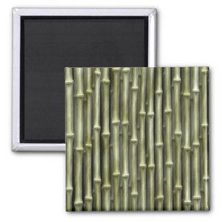 Textura de bambú de postes imán cuadrado