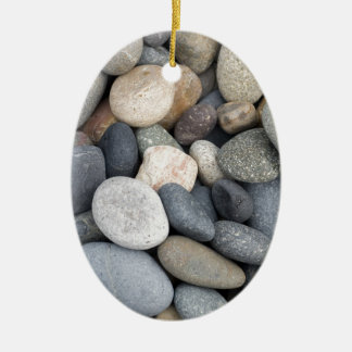 Textura de Beachstone Adorno Ovalado De Cerámica