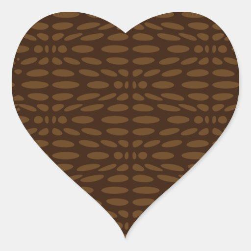 Textura de Brown Pegatina En Forma De Corazón