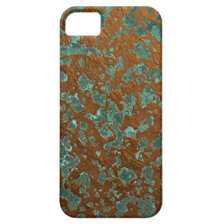Textura de cobre oxidada de la pátina de la mirada funda para iPhone SE/5/5s