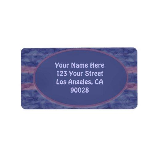 textura de color de malva azul etiquetas de dirección