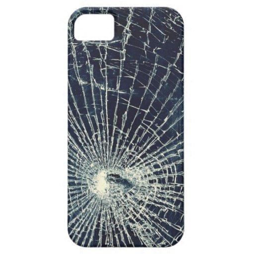 Textura de cristal quebrada iPhone 5 funda