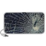 Textura de cristal quebrada portátil altavoz