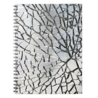 Textura de cristal rota spiral notebooks
