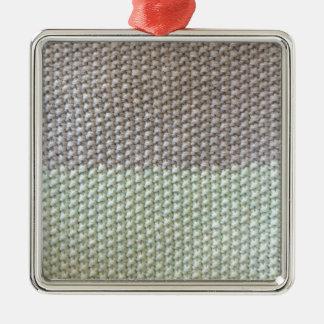 Textura de cuerda mint SIRAdesign gris Vienna by Adorno Navideño Cuadrado De Metal