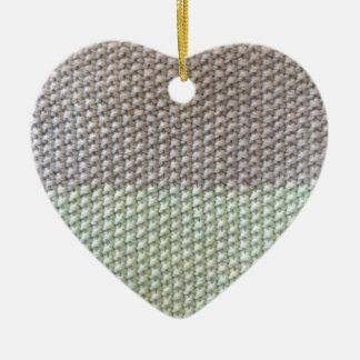 Textura de cuerda mint SIRAdesign gris Vienna by Adorno Navideño De Cerámica En Forma De Corazón