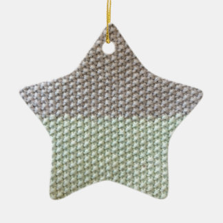 Textura de cuerda mint SIRAdesign gris Vienna by Adorno Navideño De Cerámica En Forma De Estrella