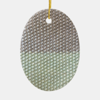 Textura de cuerda mint SIRAdesign gris Vienna by Adorno Navideño Ovalado De Cerámica