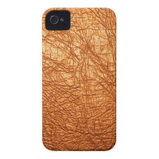 textura de cuero anaranjada iPhone 4 fundas