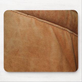 Textura de cuero anaranjada Mousemat de la mirada  Alfombrillas De Ratón
