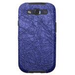 textura de cuero azul galaxy SIII cárcasas
