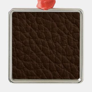 Textura de cuero adorno cuadrado plateado