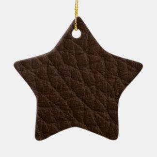 Textura de cuero adorno de cerámica en forma de estrella