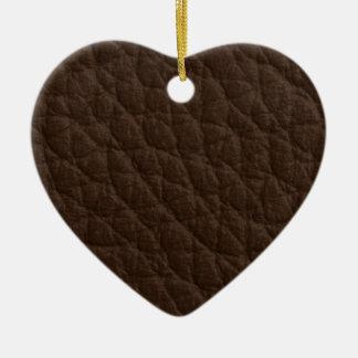 Textura de cuero adorno de cerámica en forma de corazón