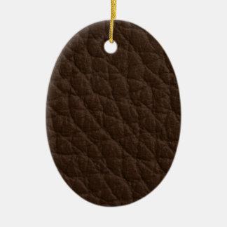 Textura de cuero adorno ovalado de cerámica