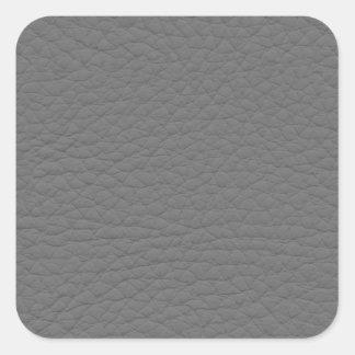 Textura de cuero gris pegatinas cuadradas