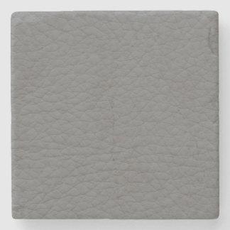 Textura de cuero gris posavasos de piedra
