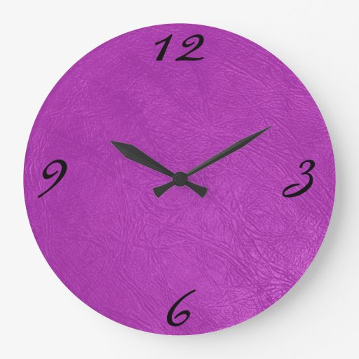 textura de cuero magenta relojes de pared