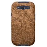 textura de cuero marrón galaxy SIII cobertura