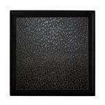 Textura de cuero negra cajas de recuerdo