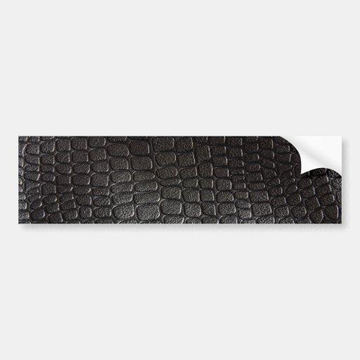Textura de cuero negra pegatina para auto