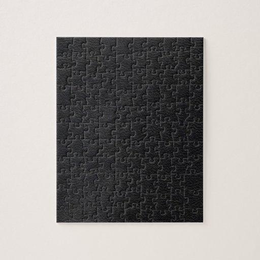 Textura de cuero negra rompecabeza