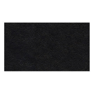Textura de cuero negra tarjetas de visita