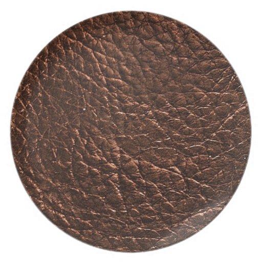 Textura de cuero oscura plato de comida