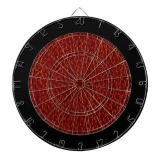 Textura de cuero roja tablero de dardos