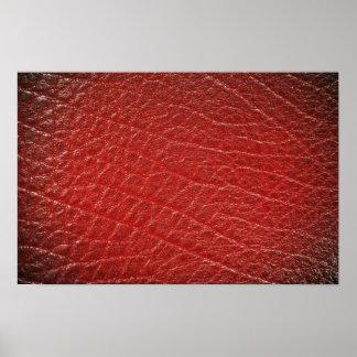 Textura de cuero roja ilustrativa impresiones