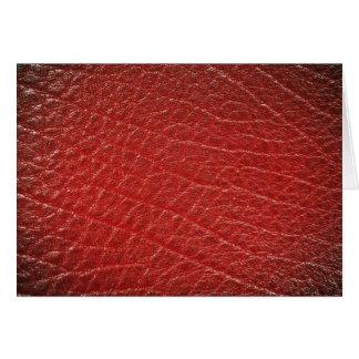 Textura de cuero roja ilustrativa felicitaciones