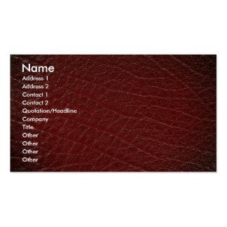 Textura de cuero roja ilustrativa plantillas de tarjetas de visita