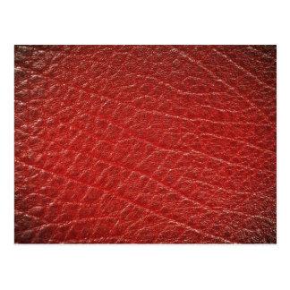 Textura de cuero roja ilustrativa tarjetas postales