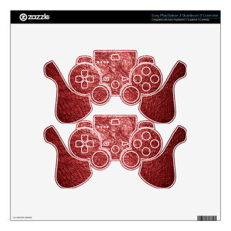 textura de cuero roja mando PS3 skin