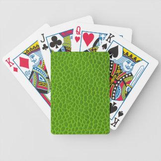 Textura de cuero verde magnífica baraja de cartas