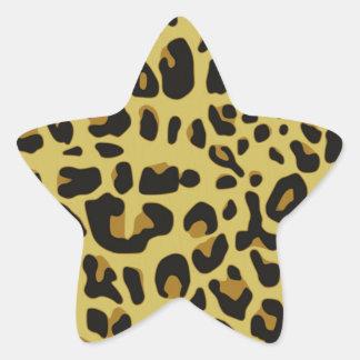 Textura de Jaguar Pegatina En Forma De Estrella