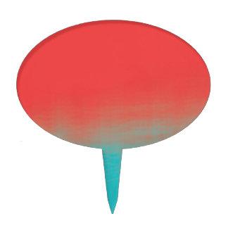 Textura de la acuarela de Ombre - trullo y coral Figura Para Tarta