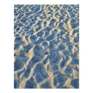 Textura de la arena de la playa flyer personalizado