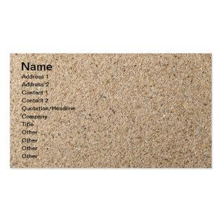 Textura de la arena para el fondo plantillas de tarjeta de negocio
