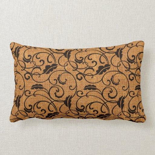 Textura de la arpillera almohada